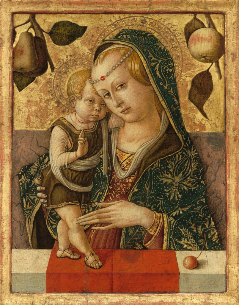 Carlo Crivelli, Madonne à l'enfant, 1490, National Gallery of Art