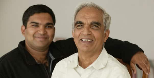 TKV Desikachar et son fils Kausthub Desikachar