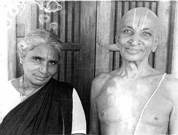 Krishmacharya et son epouse Namagiriamma