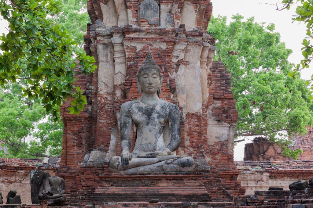 mudras-statue de Bouddha au Wat Mahathat-Thaïlande