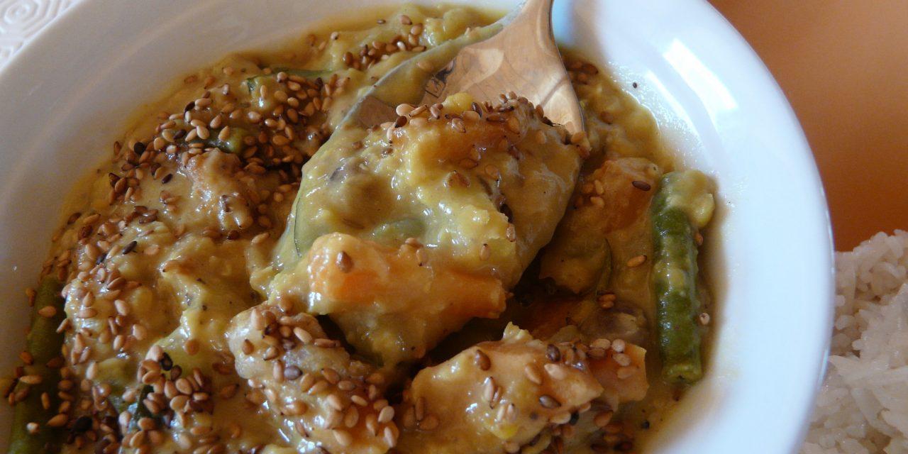 Inde : curry végétarien de lentilles corail au lait de coco sans gluten