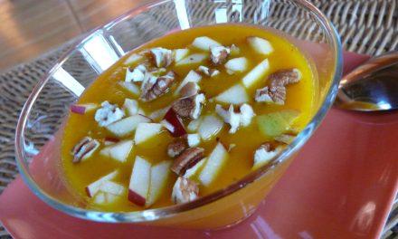 Velouté chaud tout cru butternut, pommes, noix … un délice !
