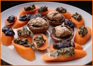 Tartare d'algues-canapés-carottes