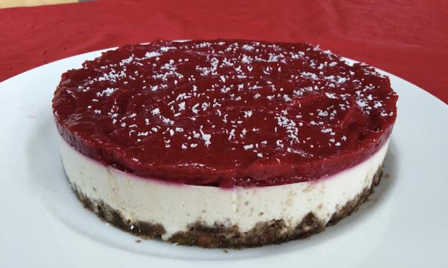 Cheesecake tout cru végétalien, pour un gâteau de fête