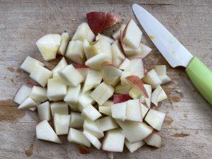Crumble aux pommes tout cru